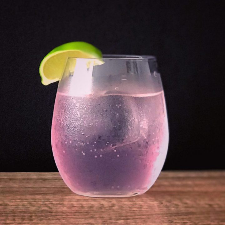 pink and tonic cocktail