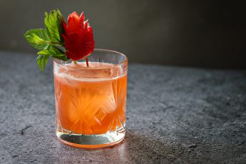 bourbon and strawberry cocktail
